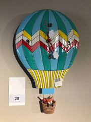 HOT AIR BALLOON PENDULUM WALL CLOCK