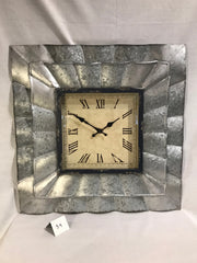 GALVANIZED METAL SQUARE WALL CLOCK