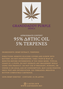 Granddaddy Purple - Delta 8 THC Vape Cartridge