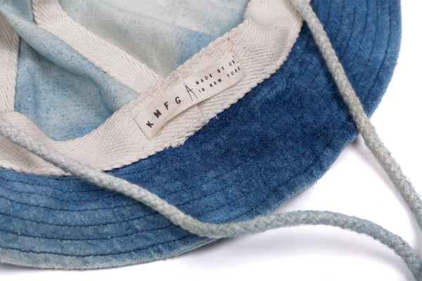 Indigo Dyed Raw Silk Bucket Hat