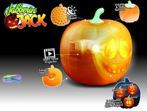Halloween Talking Animated Pumpkin with Built-In Projector & Speaker