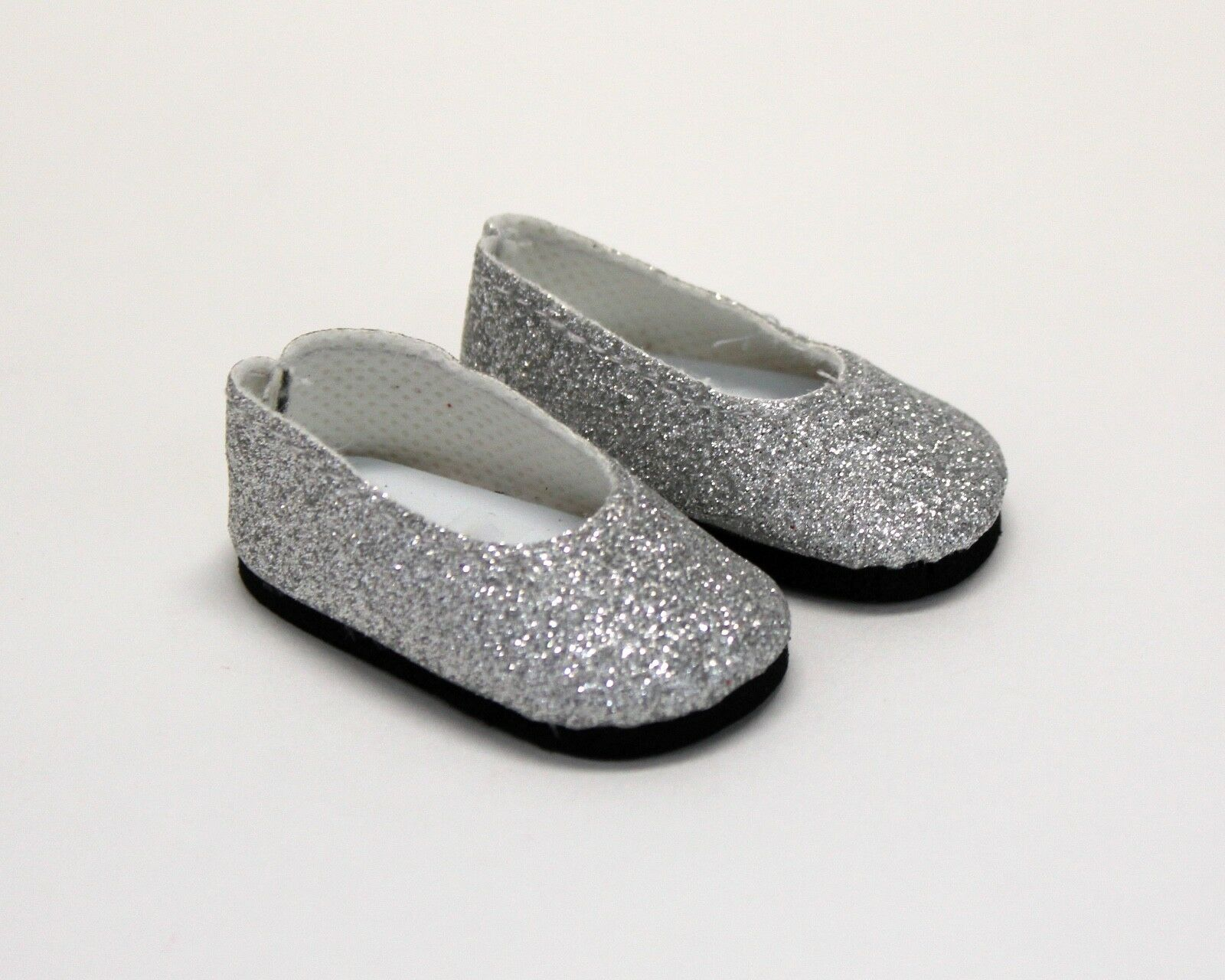 Dress-shoes-for-Wellie-Wisher-14-5-034-Dolls-Red-Silver-Glitter-Dress-Shoes thumbnail 7