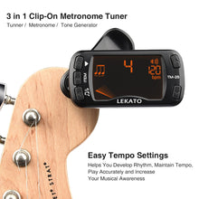Load image into Gallery viewer, LEKATO 3 in 1 Metronome Tuner