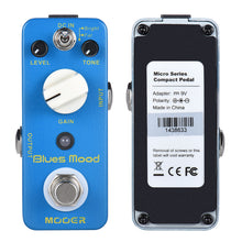 Load image into Gallery viewer, MOOER Blue Mood Blues Style Overdrive