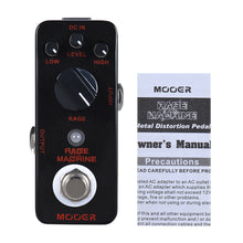 Load image into Gallery viewer, MOOER Rage Machine Heavy Metal Distortion