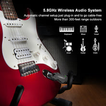 Load image into Gallery viewer, LEKATO 5.8GHz Wireless Guitar System WS-50