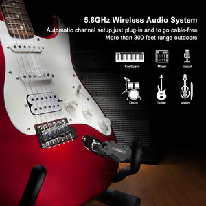 LEKATO 5.8GHz Wireless Guitar System WS-50
