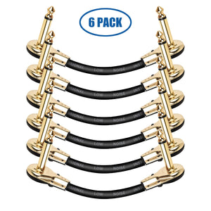 LEKATO Guitar Patch Cables Gold