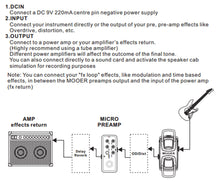 Load image into Gallery viewer, MOOER 020 Blueno Digital Preamp