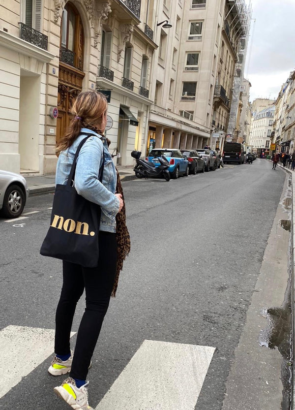 BONJOUR BEN non bag - black I gold