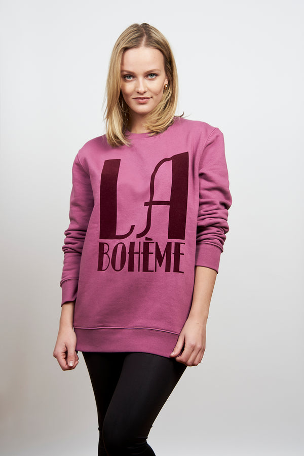 BONJOUR BEN la boheme Sweater I very berry bordeaux