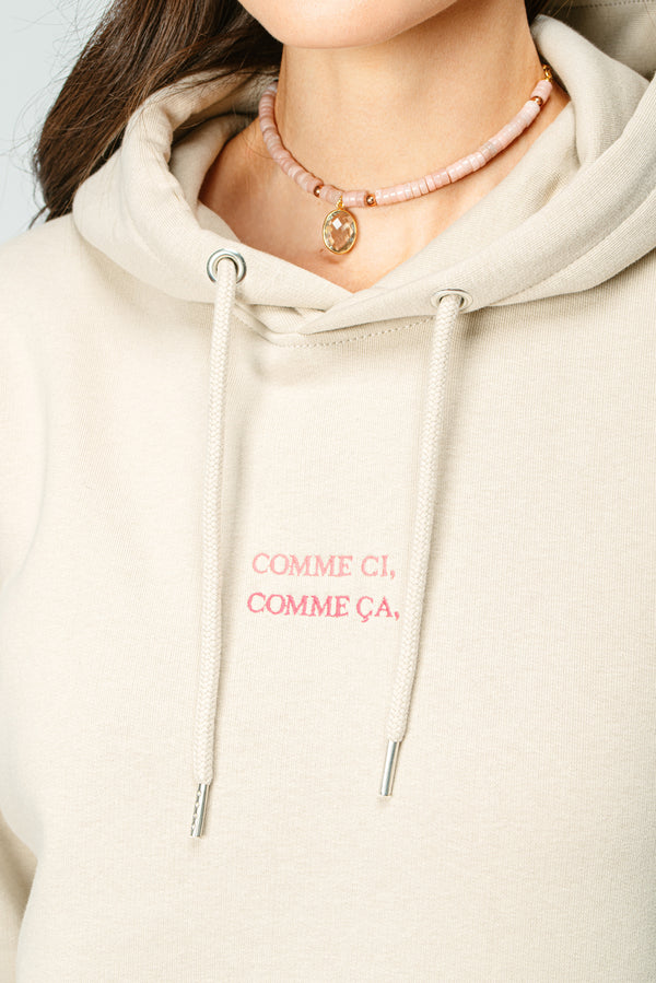 BONJOUR BEN comme ci, comme ca Hoodie - sand I rose