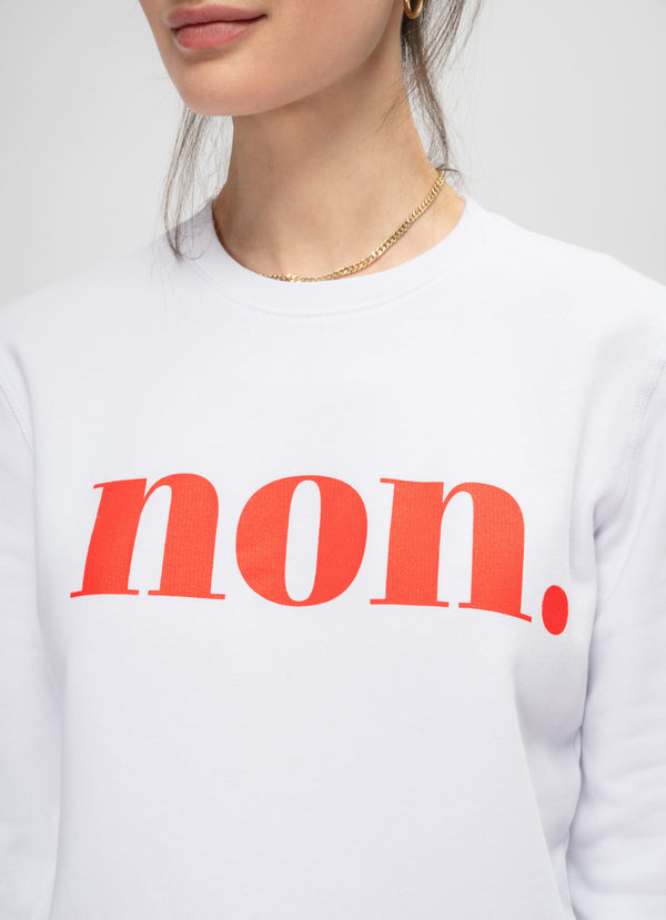 BONJOUR BEN non Sweater - white | red