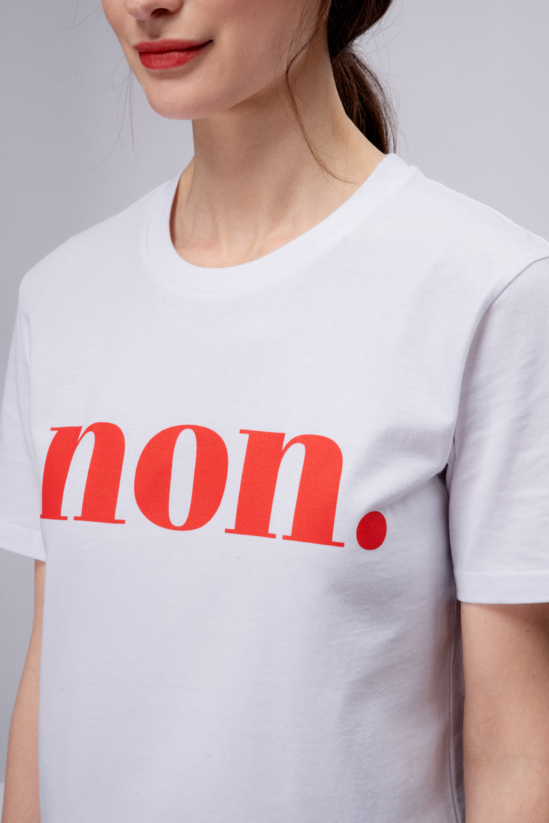 BONJOUR BEN non T-Shirt - white | red