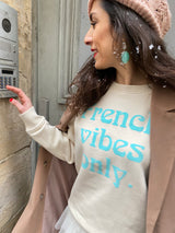 BONJOUR BEN french vibes only Sweater - naturel | menthe