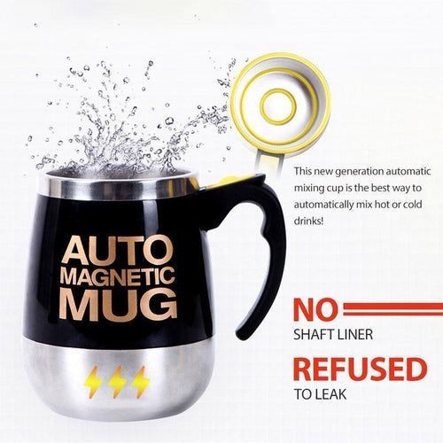Automatic Magnetized Coffee Mixing Cup