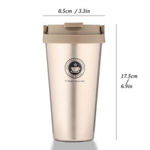 Load image into Gallery viewer, 500ml Office Travel Coffee 304 Stainless Steel Classical Mug