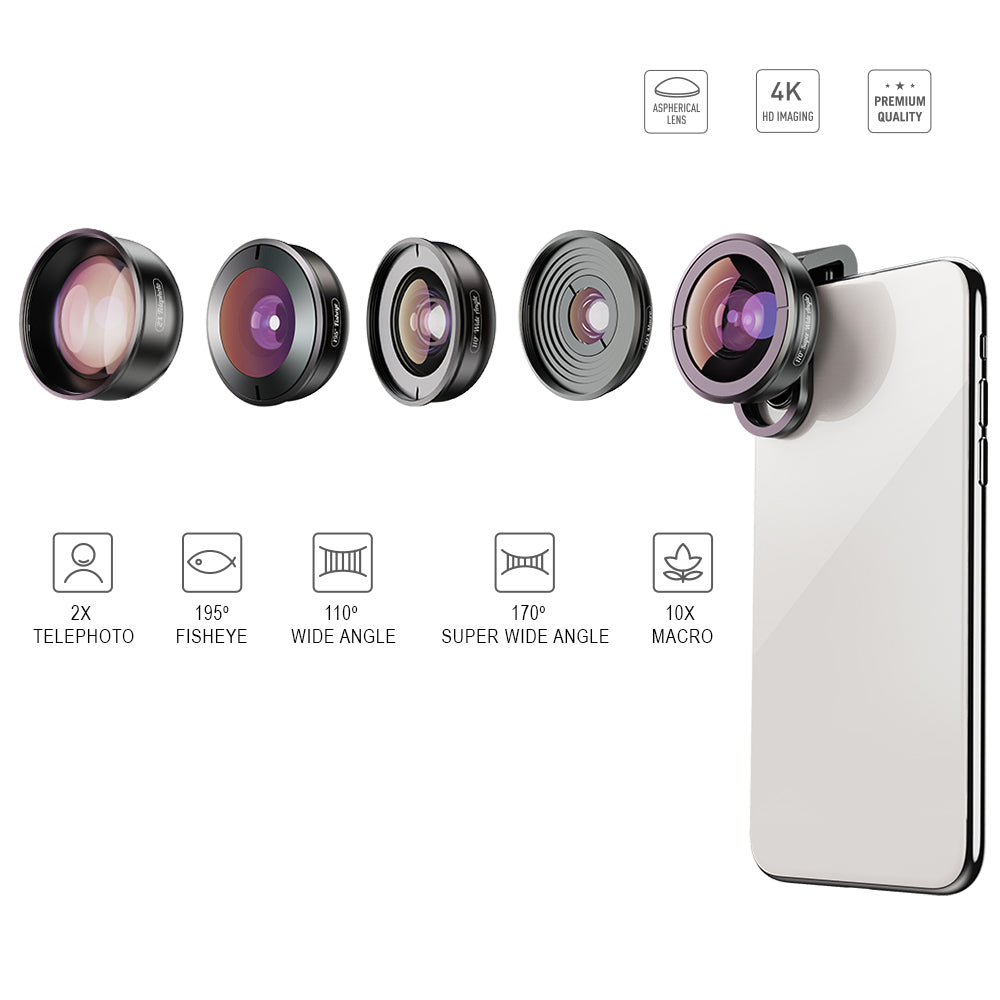 HD 5 in 1 Camera Phone Lenses