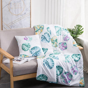 Pillow Quilt Dual-use Multi-Function Double Zipper Foldable Soft for Car Office Sofa