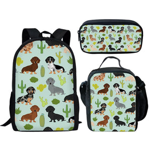 Cute Dachshund Satchel Set