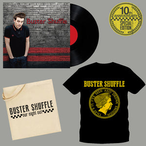 "Buster Shuffle - ""Our Night Out"" 10th Anniversary Pre-order Bundle (Vinyl, Shirt, Tote Bag)"