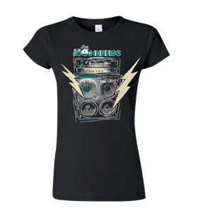 The 80's Cruise Amplifier Shirt - Black (ladies)
