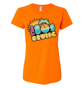 The 80's Cruise Logo Shirt - Neon Colors (ladies)