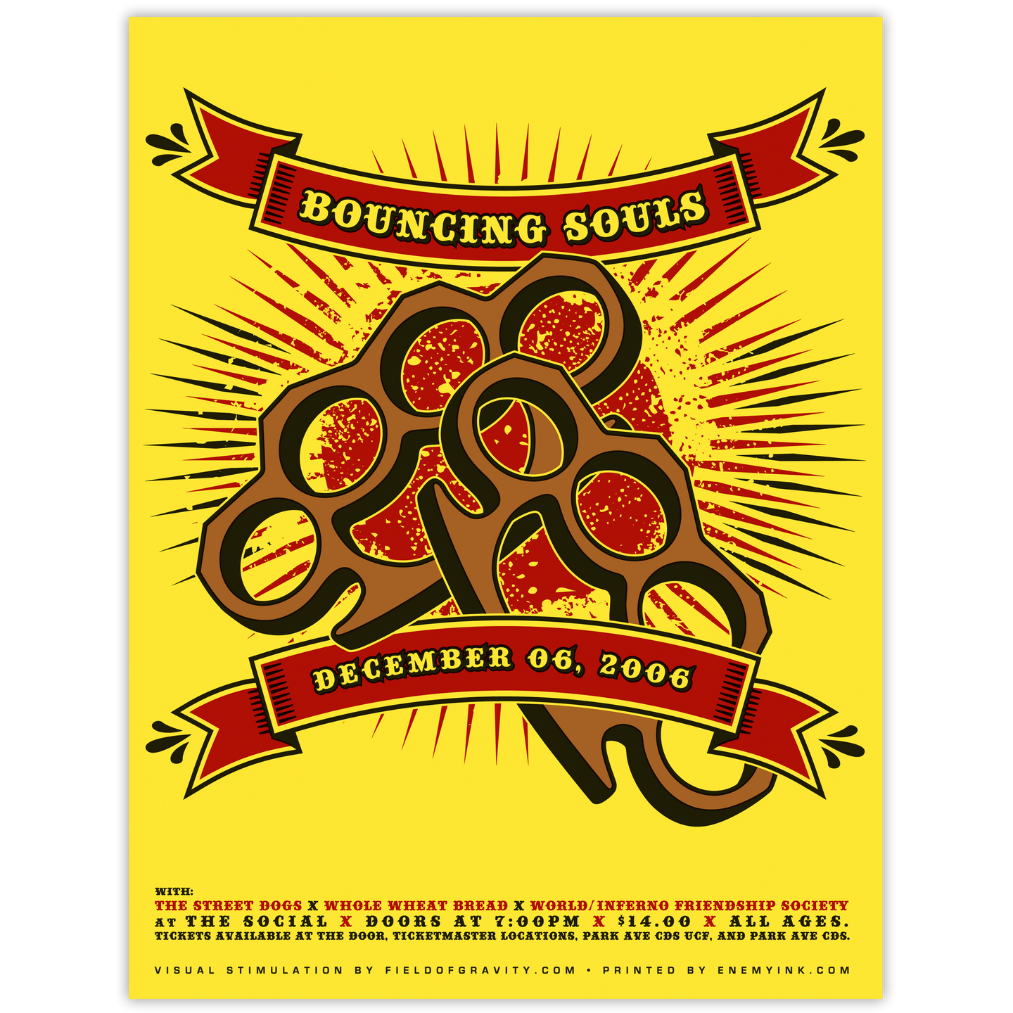 Bouncing Souls - Knuckles Poster
