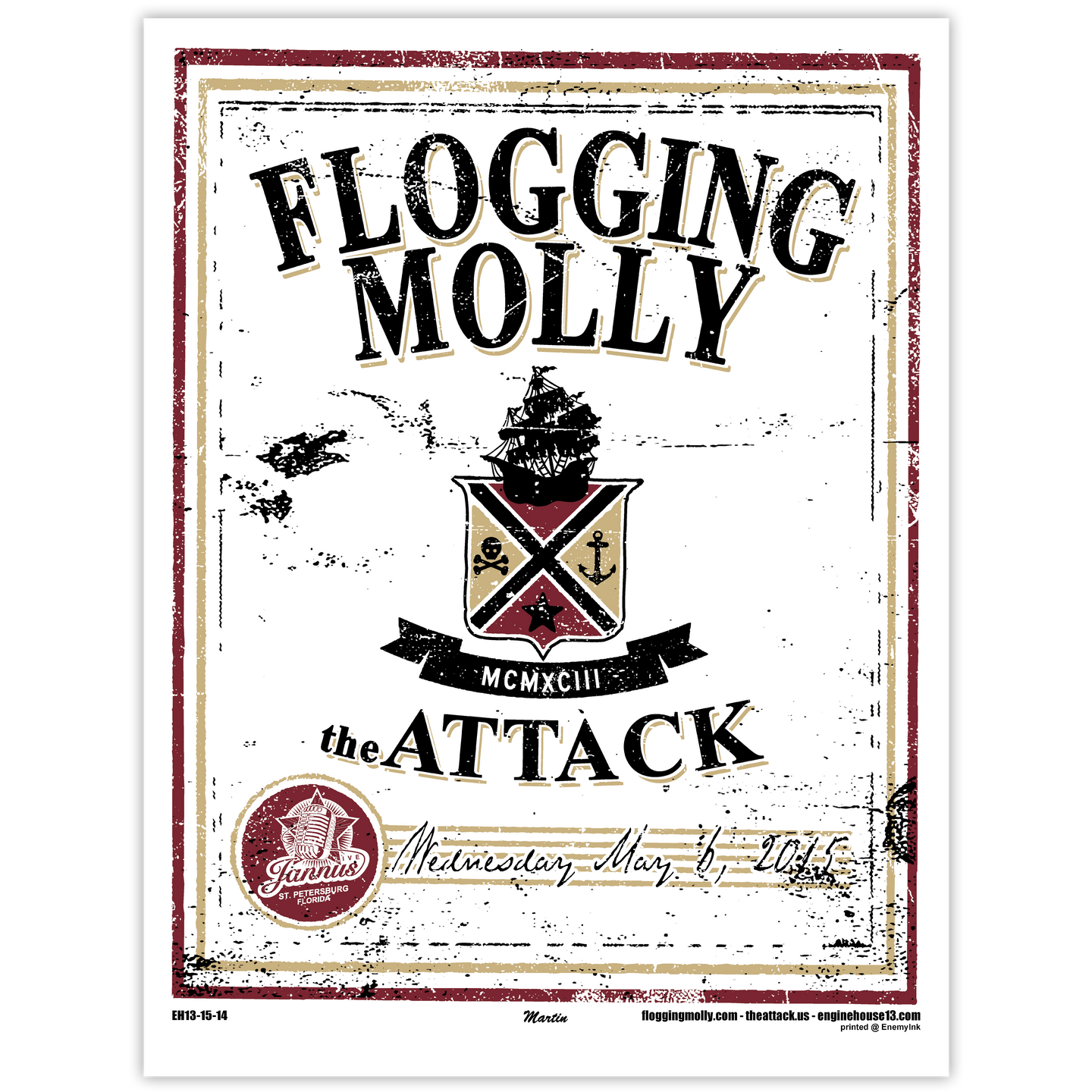Flogging Molly - 5.6.15 Poster