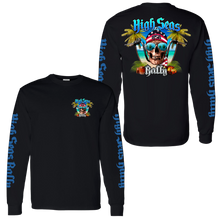 Load image into Gallery viewer, High Seas Rally - Skull and Bars Longsleeve Shirt - Black