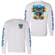 Load image into Gallery viewer, High Seas Rally - Skull and Bars Longsleeve Shirt - White