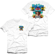 Load image into Gallery viewer, High Seas Rally - Skull and Bars T-Shirt - White