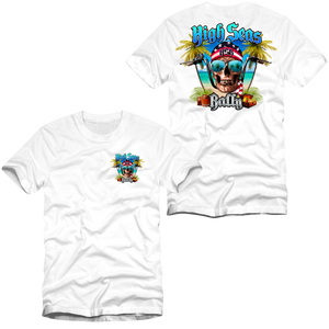 High Seas Rally - Skull and Bars T-Shirt - White