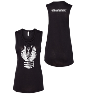 Love Hope Strength - Get on the List sleeveless tank (Ladies) Black