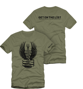 Love Hope Strength - Get on the List T (Mens) Army Green