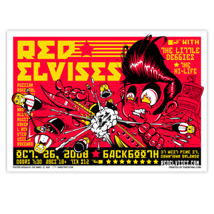 Red Elvises Poster