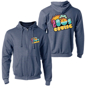 The 80's Cruise Zip Up Hoodie (Heather Denim)