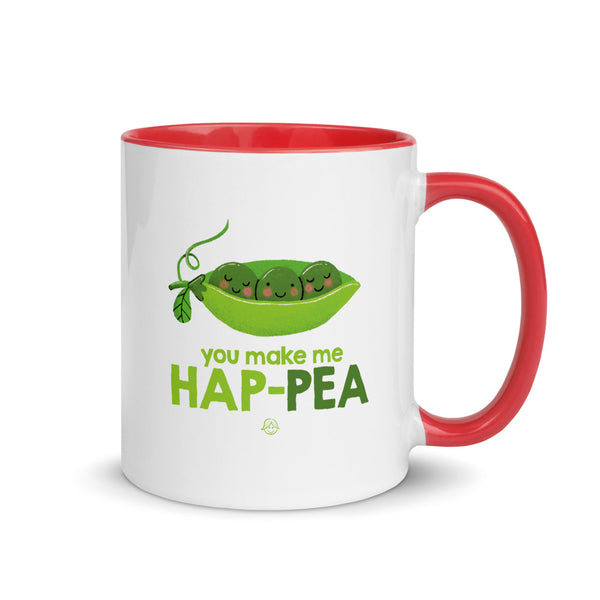 Hap-pea Mug with Color Inside