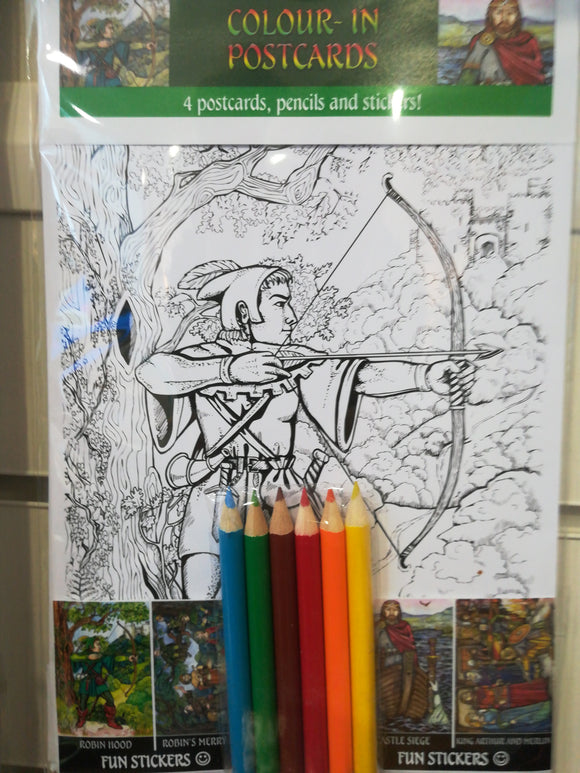 Robin Hood colouring posters