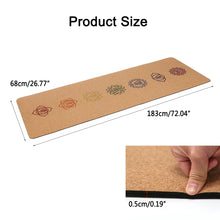 Load image into Gallery viewer, 5MM Natural Cork TPE Yoga Mat 183X68cm Non slip