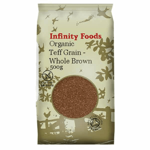 Infinity Organic Teff Grain Whole Brown Gluten Free 500G