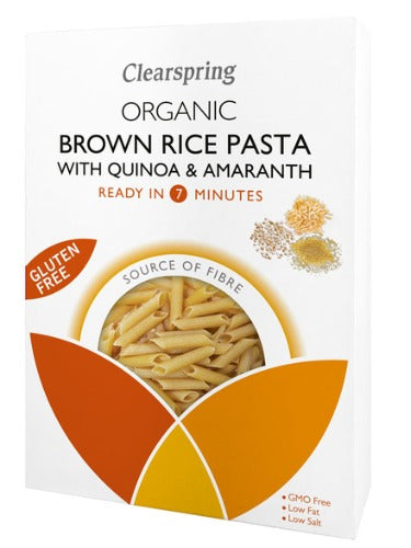 Brown Rice Pasta with Quinoa & Amaranth, Organic 250g(Clearspring)