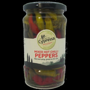 CYPRESSA MIXED HOT CHILLI PEPPERS PICKLED 325G