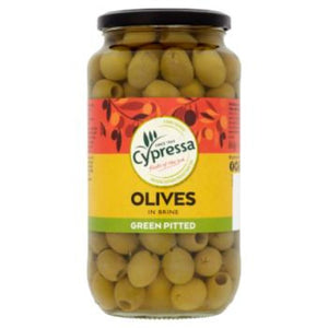 Cypressa Green Pitted Olives in Brine 860g