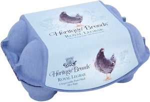 Heritage Breeds Royal Legbar 6 free range eggs with pastel shells
