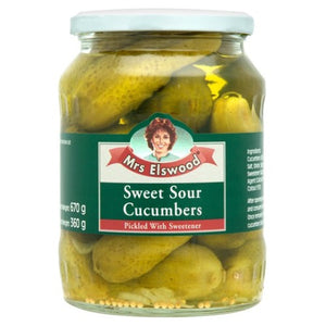 Mrs Elswood Sweet & Sour Cucumbers 670G