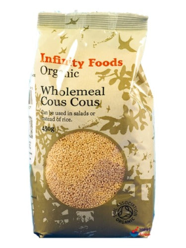 Infinity Organic Wholemeal Cous Cous 450G
