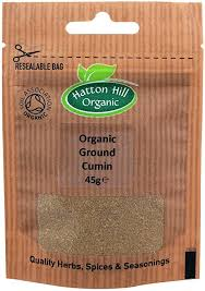 Organic Ground Cumin 45g