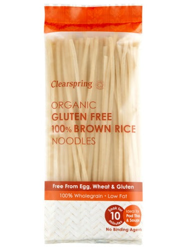 CLEARSPRING  Organic Gluten Free 100% Brown Rice Noodles