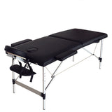 "84"" Portable Foldable Aluminum Massage Table SPA Bed with Carry Case Beauty Salon Therapy Massage Bed Treatment Table - US Stock"